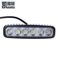 6inch 18W Cree LED Work Drive Light Lamp Bar Combo Flood Spot Beam Offroad Light 12