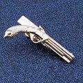1.9 polegada Rose Gold Gun/Pistola Prata Tipo Barras de Aderência Empate Clipe masculino Na Moda Casual Para Homens