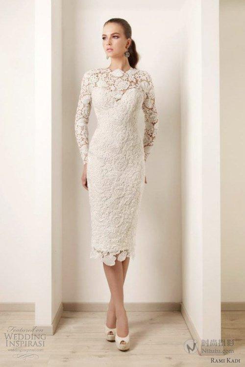 Popular Ivory Tea Length Wedding Dresses-Buy Cheap Ivory Tea ...