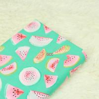 1 Meter Plain Thin Cotton Fabric With Fruit Watermelon Prints Handmade DIY Quiting Garment Doll Cloth