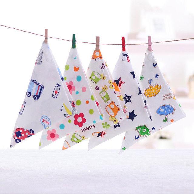 1Pcs Baby Kids Cotton Bandana Bibs Cute Pattern Print Infant Feeding Saliva Towel Dribble Triangle