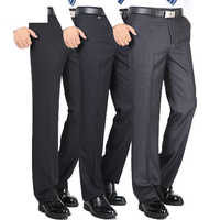 High Quality Fashion Thicken Men Dress Pants Classic Business Casual Straight Trousers Loose Suit Pants high waist Men Pantalon