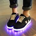 2017 novos Sapatos da moda das mulheres Levou sapatos para as mulheres sapatos luminosos led