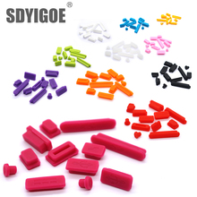 Hot Selling 1set Silicone Data Port Anti Dustproof Plugs For MacBook Air pro retina11″13″ 15″ Laptop Dust Plug Stopper Cover Set