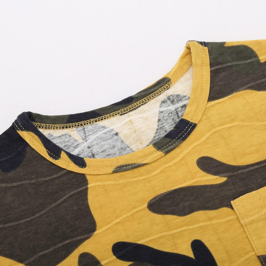 2017 ljeto majica za dječake tops dječja odjeća kamuflaža Camo - Dječja odjeća - Foto 5