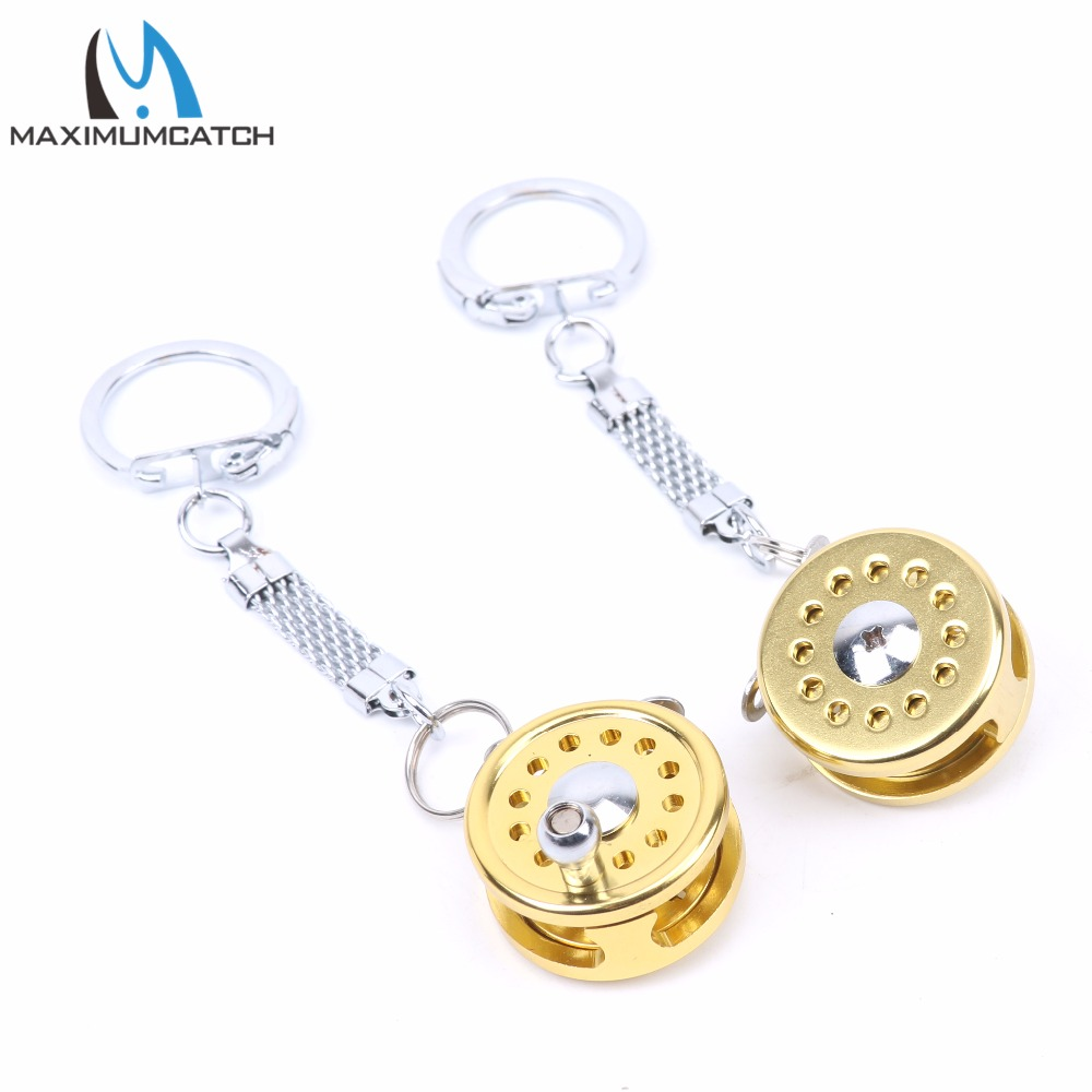 ALI shop ...  ... 32813592180 ... 4 ... Maximumcatch 2pc Fishing Reel Keychain Scroll Retractor Key Chain With Key Ring Fishing Tackles ...