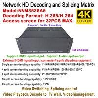 Топ декодер IP матричный коммутатор Управление аудио видео Linux Дизайн H.265 1ch HDMI Вход + 2 шт. HDMI Выход, разделение 1/4/9/16/25/36