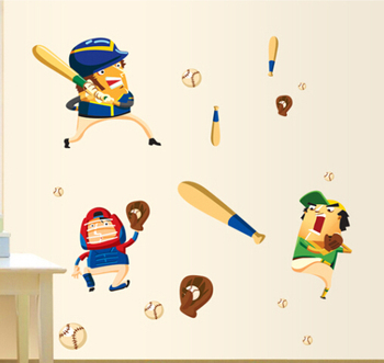 baseball wall decals for kids