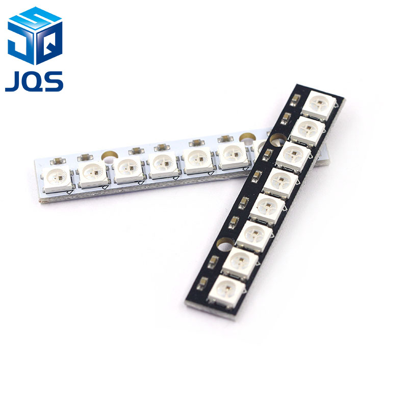 8 Channel WS2812 WS2812B WS 2811 5050 RGB LED Lamp Panel Module 5V 8-Bit Rainbow LED Precise