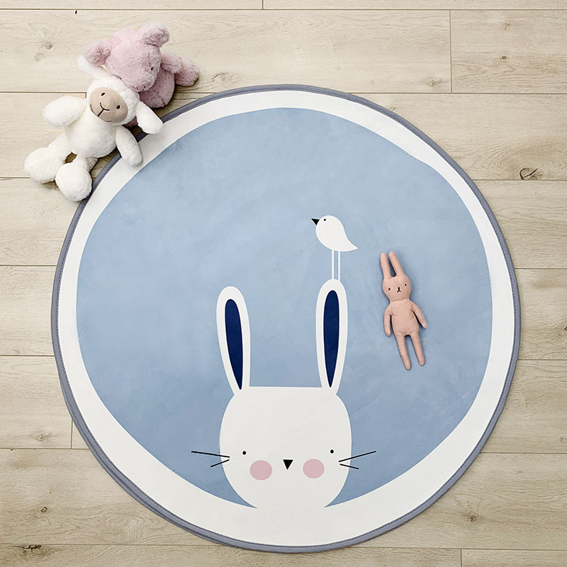 Mother & Kids 2019 New Style 101cm Kids Play Game Mats Round Animal Carpet Rugs Mat Cotton Crawling Blanket Floor Carpet Toys Room Decoration Ins Baby Gifts Baby Gyms & Playmats