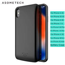 Battery Case Power Bank For iphone X XS XR XS MAX Magnetic Battery charger case For iphone 6 6s 7 8 plus Adsorption Powerbank(China)