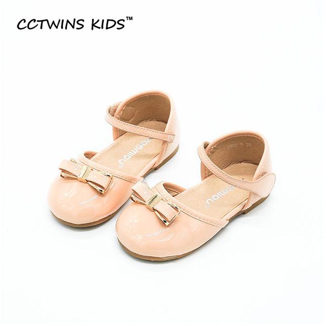 CCTWINS CRIANÇAS Verão 2017 Pu de Couro Branco Criança Princesa Bebê marca Mary Jane Sapato Cinta de Moda Infantil De Dança Preto Liso B661