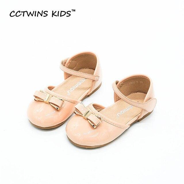 CCTWINS KIDS 2017 Summer Pu Leather White Kid Princess Baby Brand Mary Jane Strap Shoe Fashion Children Dance Black Flat B661