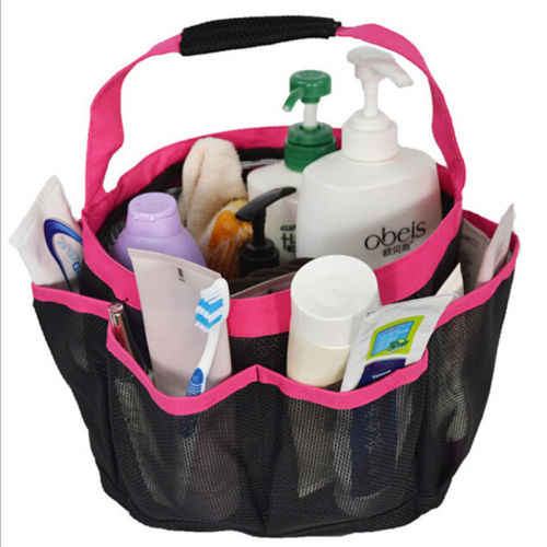 Mesh Shower Tote Wash Bag Bathroom Shower Caddy Basket Pocket Storage Bags Package
