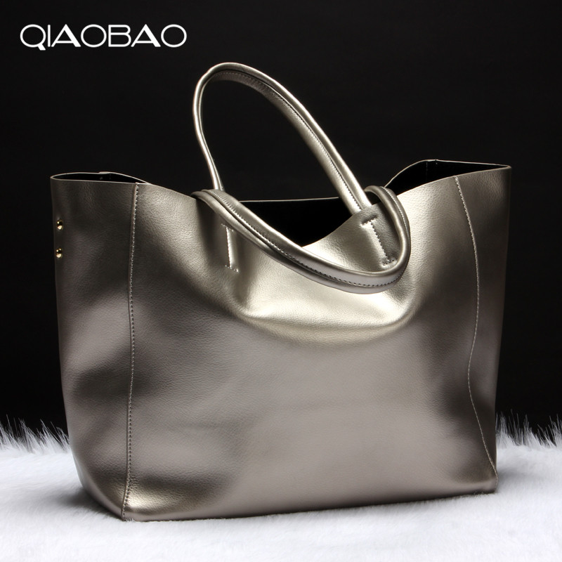 QIAOBAO 100% Cowhide Leather Totes Designer Large Capacity Women Messenger Bags Femel Shoulder Bags Luxury Fashion Brand laorentou cowhide leather women handbag brand fashion larger capacity women leather bag luxury totes designer lady hand bags