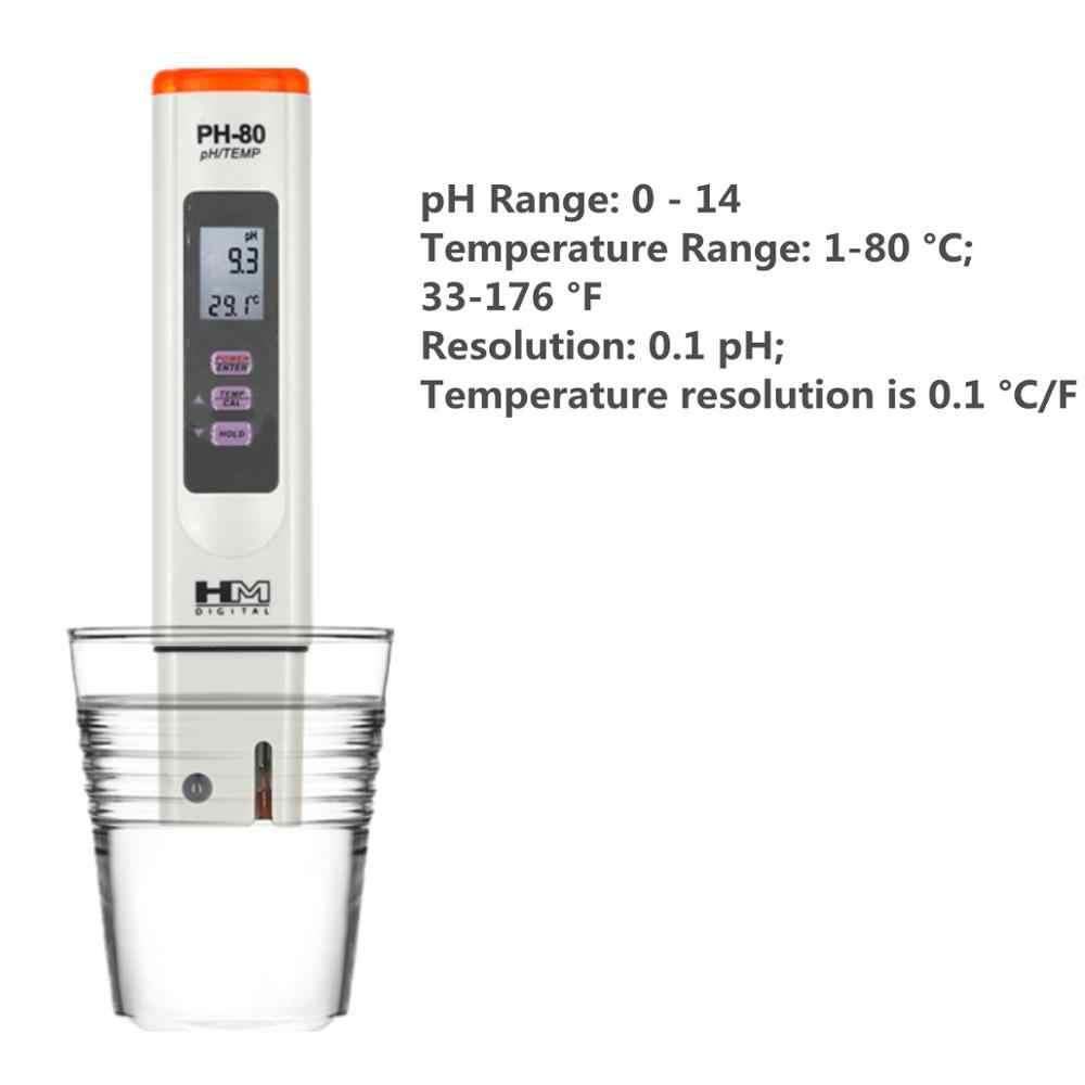 HM Kỹ Thuật Số PH-80 Máy Đo độ PH Chất Lượng Nước cho Các Ứng Dụng Kiểm Tra Thủy Canh Bể Cá Uống nước 40%