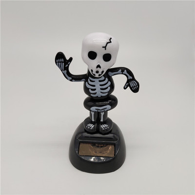 Новинка Солнечная игрушка ed танцующий откидной клапан качающийся головой игрушки для детей солнечная игрушка энергия фигурка игрушки - Цвет: Black Skully