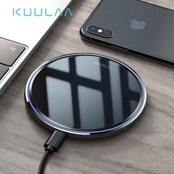 Cargador inalámbrico KUULAA 10W Qi para Samsung S9 S10 + Note 9 8 espejo almohadilla de carga inalámbrica 7,5 W para iPhone X/XS Max XR 8 Plu