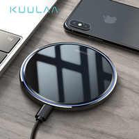 KUULAA Caricatore Senza Fili 10W Qi per Samsung S9 S10 + Nota 9 8 Specchio Pad di Ricarica Senza Fili 7.5W per iPhone X/XS Max XR 8 Plu