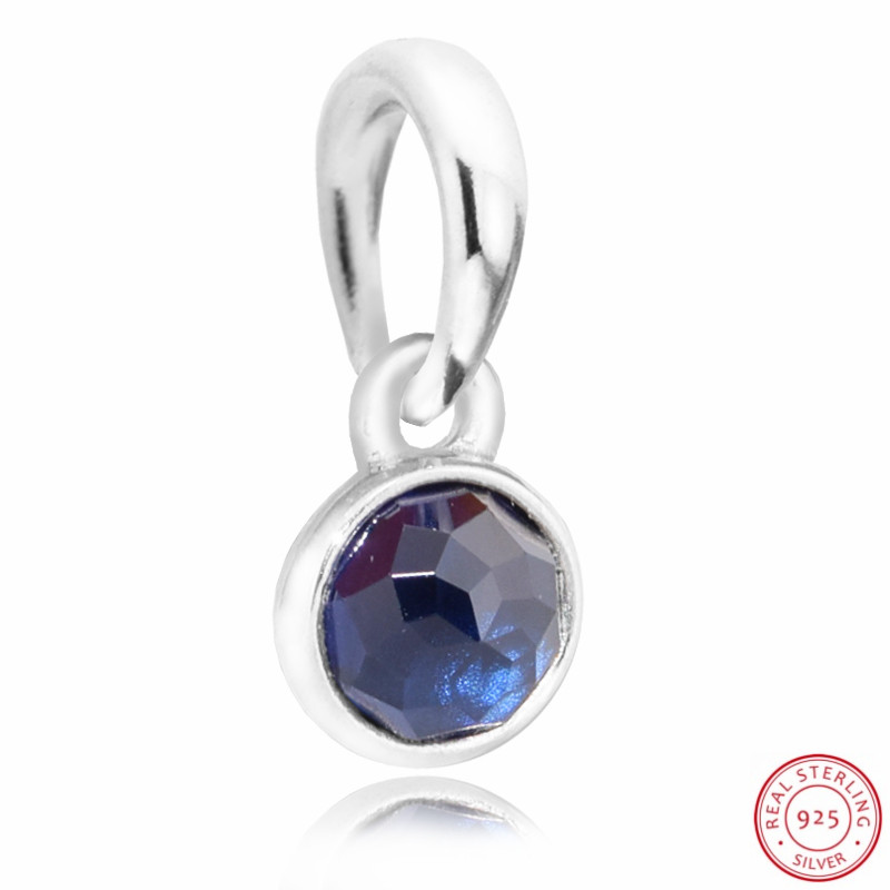 7c41a8a83 Blue Sapphire September Droplet Necklace Pendant Beads for Jewelry Making  DIY Fit PANDORA Charms Silver 925 Original FL506 9-in Beads from Jewelry ...