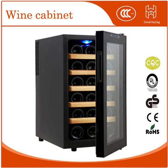 18 bottles 48L red wine cooler for hotel restaurant Glass Door Desktop wine fridger