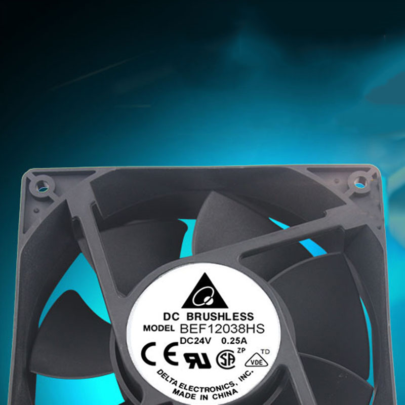 Cooling fan 120*120*38mm for Delta BEF12038HS Double ball bearing DC24V 0.25A computer water cooling fan delta pfc1212de 12038 12v 3a 12cm strong breeze big air volume violent fan