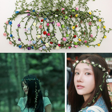Free shipping !10pieces/lot Beautiful Floral hoop headband beach wreath floral hair wreaths ALFH002#