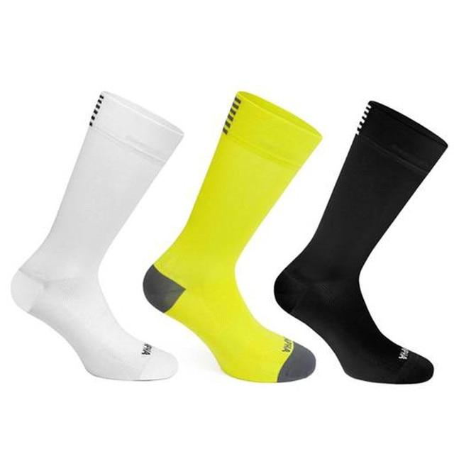 Bmambas alta qualidade profissional marca esporte meias respirável meias de bicicleta estrada ao ar livre esportes corrida ciclismo meia 1