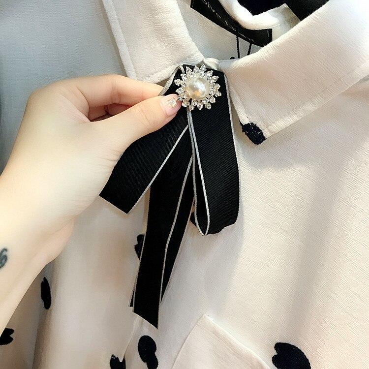 Handgemachte Kristall Blume Perle Feste Band Strass Shirt Pins Neck Fliege Bogen Knoten Bekleidung Zubehör Mode Schmuck Dauerhaft Im Einsatz