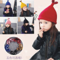 New children's hats kids plus velvet warm wool hat boys girls winter christmas wool cap headwear love sequin fishtail cap16A12