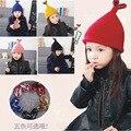 Novas crianças chapéus das crianças além de veludo de lã quente chapéu gorro de lã das meninas dos meninos do inverno do natal headwear amor sequin fishtail cap16A12
