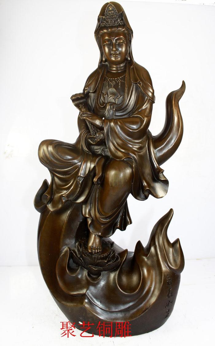 Bronze sculpture, copper decoration guanyin buddha antique