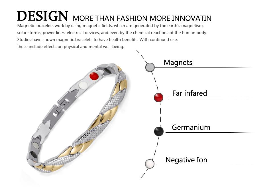 Welmag влюбленных Модный магнитный браслет для здоровья браслеты