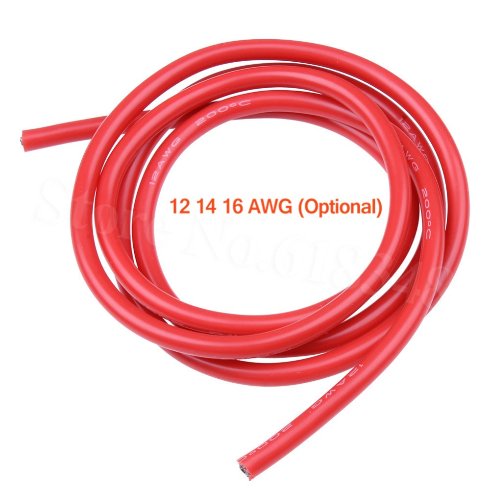 12 14 16 AWG Silikon Draht Kabel Flexible Rot/Schwarz Für RC Auto ...