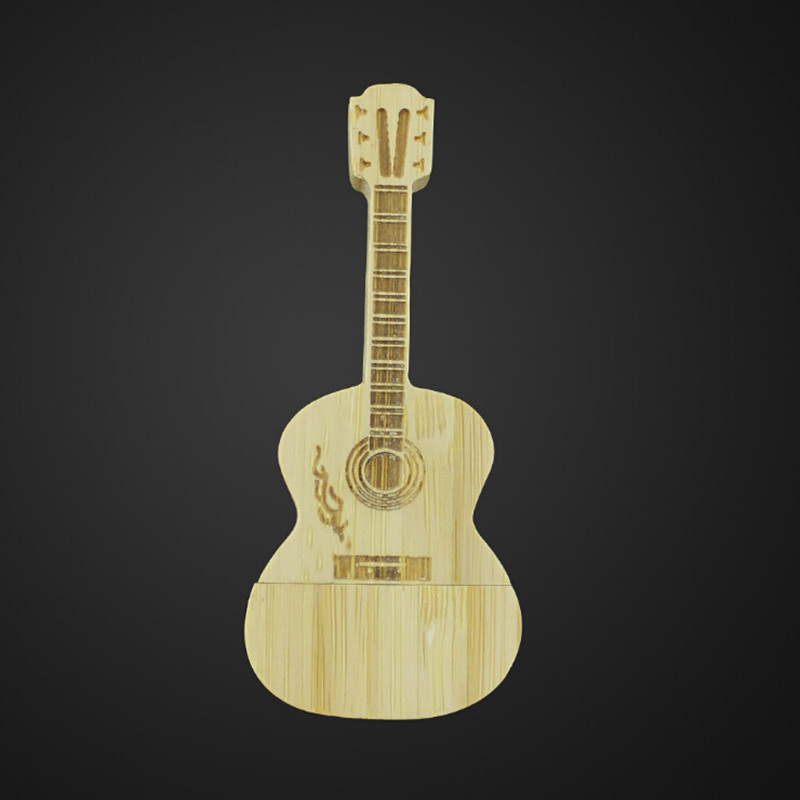 usb flash drives bulk cheap Popular Mini Wooden Guitar USB Genuine 4GB 8GB USB 2.0 Memory Flash Stick Pen Drive