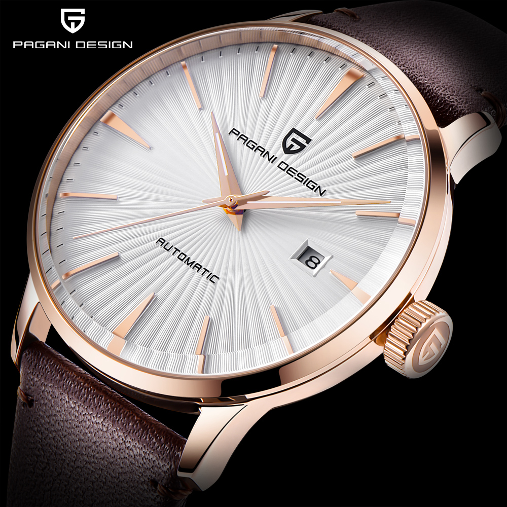 PAGANI DESIGN New Mens Watches Top Luxury Mechanical Watches Waterproof 30M Leather Fashion Casual Automatic Watch reloj hombre wrist switzerland automatic mechanical men watch waterproof mens watches top brand luxury sapphire military reloj hombre b6036