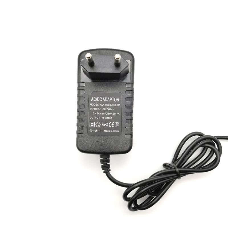 50pcs 5V 3A 3 5x1 35mm 3 5 1 35mm Charger EU US Plug Power Supply