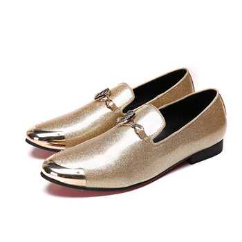 Batzuzhi Luxury 2018 Men Shoes Casual Leather Loafers Shoes Men Metal Cap Toe Driving Moccasins Designer's Brand Flats, US6-12 фото