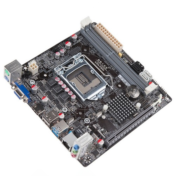 Used original motherboards for MAXSUN MS-H81IL 17*17 all solid LGA1150 motherboard H81 itx motherboard USB3.0