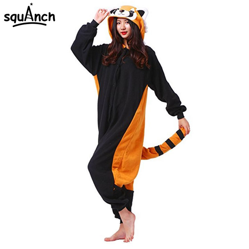 9126bc63229 Animal Raccoon Onesie Kigurumi Adult Women Couple Sleep Suit Cartoon Funny  Cute Pajama Carnival Games Party
