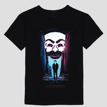 Mr Robot Fsociety Mask T Shirts Men Fashion Printed T-shirt Summer Short Sleeve Cotton Robot Men T Shirt(China)