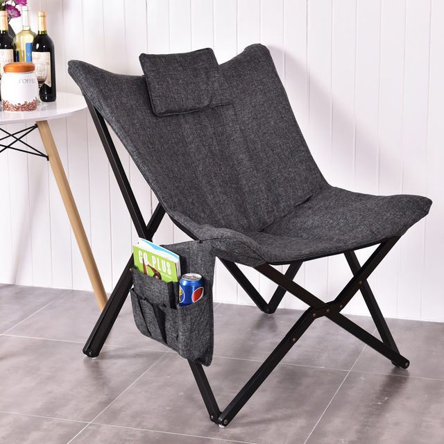Beau Giantex Folding Butterfly Chair Seat Solid Black Wooden Frame Sofa Chairs  Modern Foldable Home Outdoor Furniture