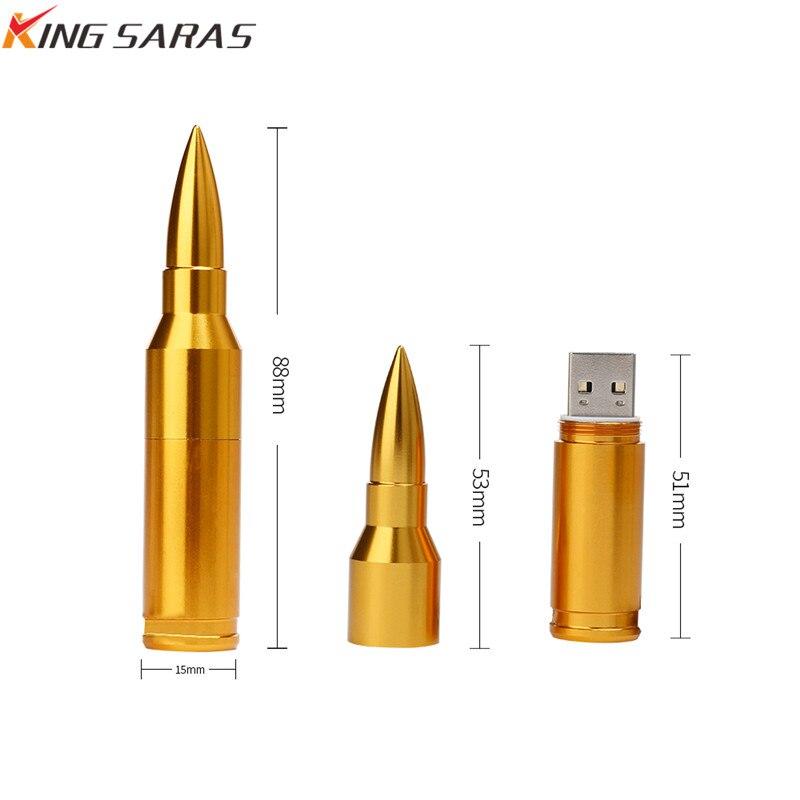 USB 2.0 Flash Memory Metal Bullet Pen Drive Model Usb Flash Drive 4GB 8GB 16GB 32GB 64GB 128GB High Speed PenDrive Free Shipping (5)