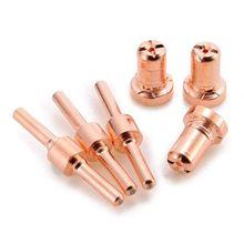 60 pièces en cuivre rouge étendu longue pointe de coupe Plasma électrodes et buses Kit Mayitr consommable pour PT31 LG40 40A coupe soudeuse Tor