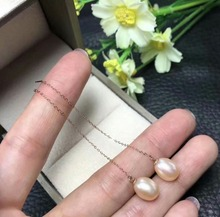 shilovem 18k rose  Natural  freshwater pearls Drop Earrings fine Jewelry women trendy anniversary  gift myme0808agzz цена в Москве и Питере