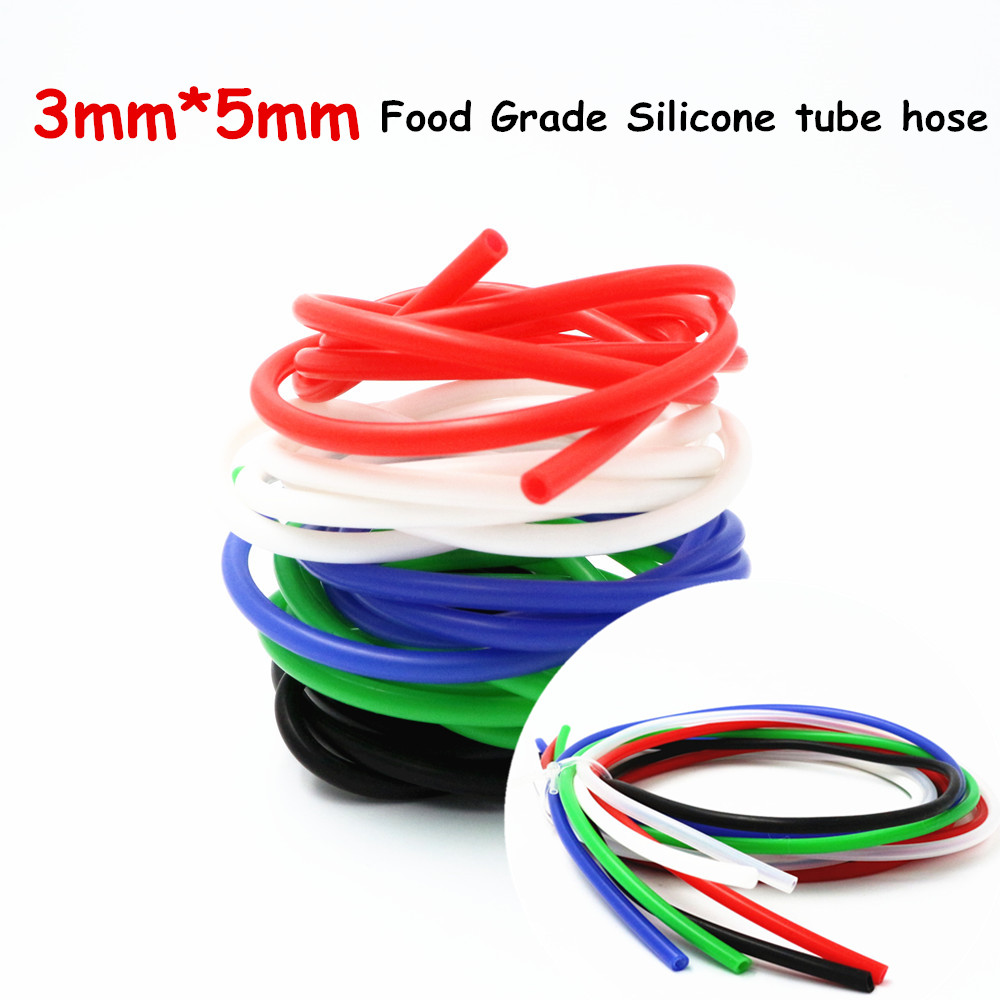 3x5mm New arrival High and low temperature resistance tasteless non-toxic Transparent Food Grade Silicone Hose Tube Pipe 1M