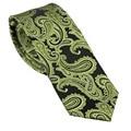 LAMMULIN NOVEDAD hombres Paisley Tejidos en Jacquard, Corbata Flaca ties negro Con Verde Oliva 7 cm Corbata Corbata de Boda cravate