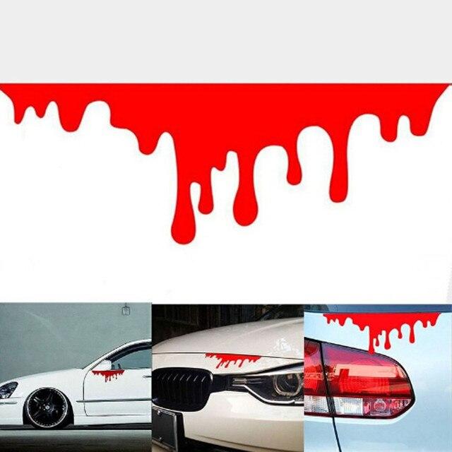Прямая доставка 2018 красная кровяная Автомобильная наклейка s светоотражающие наклейки на автомобиль свет бампер тело наклейка клейкая наклейка CarStyling # BILL