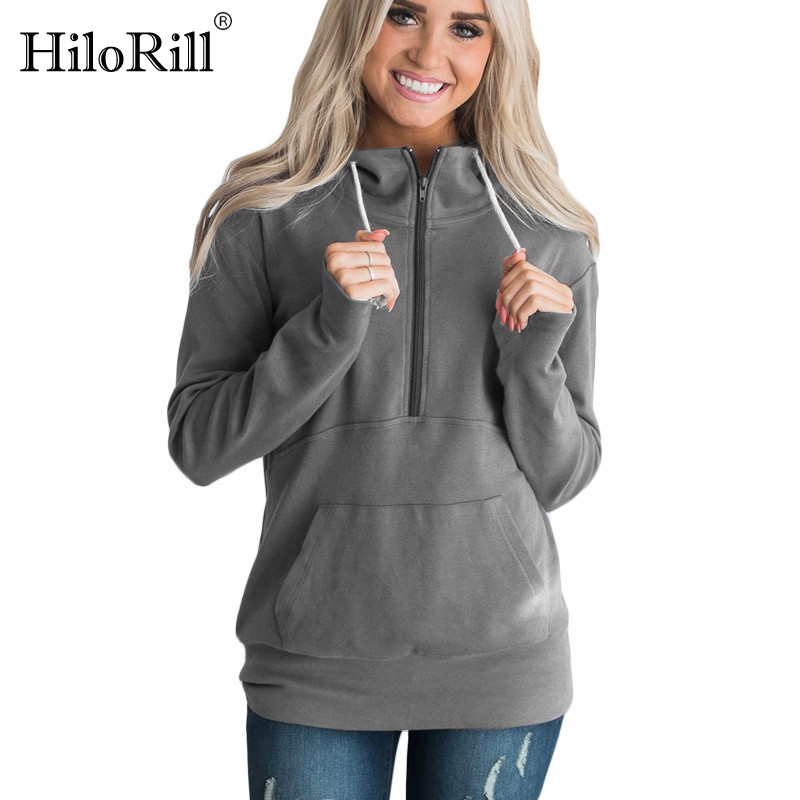 Plus Size Hoodie Pullovers 2019 Autumn Winter Long Sleeve Solid Hooded Sweatshirt Casual Zipper Pockets Pure Hoodies Tracksuits
