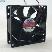 Вентилятор охлаждения с гидравлическим подшипником DL08025R12U для AVC 8025 80 мм x 80 мм x 25 мм, 2Pin разъем 12 В 0,50a 2 провода